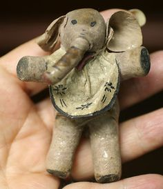 Antique German Spun Cotton Elephant Christmas Ornament | eBay