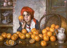 Bimba con le arance by Luigi Amato