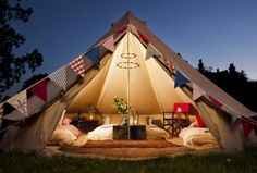 Glamping in Surrey, England - Bell Tent Glamping Holiday