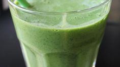 Nutrient-rich kale is hidden in this delicious banana smoothie. . . perfect for those of us who have a hard time getting our daily dose of veggies!
