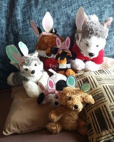 my son made bunny ears for all his little buddies.