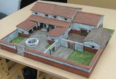 diorama ideas One way of Touching History, build a model of a roman farm house Ancient Architecture, Architecture Design, Modern Minecraft Houses, Casas Containers, Building Concept, Courtyard House, Modern History, Miniature Houses, Spanish Style