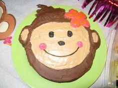 Monkey Girl Birthday Cake