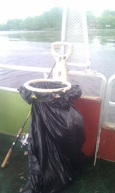 Bagalot on a pontoon boat.    Please re-pin!  www.2bagalot.com