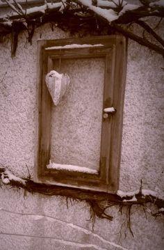 Fenster im schnee