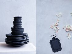 black stoneware collection for abc home collection, ceramics + photo made by dietlind wolf