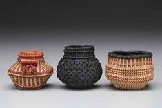 One A Day Linen Baskets, Textiles Techniques, Basket Weaving, Fiber Art, Wax, Gallery, Holiday, Shop, Beautiful