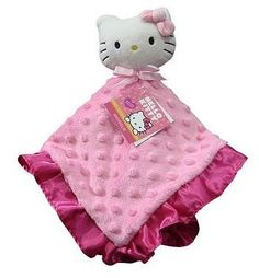 Amazon.com: Hello Kitty Security Blanket Snuggle Buddy Plush Baby Toy for Nursery: Toys & Games