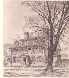 "Samuel Chamberlain ""Wadsworth House"" #Etching #art #fineart #prints"