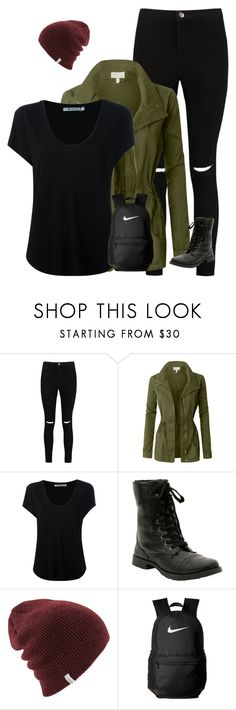 """Hannah baker"" by a-hidden-secret ❤ liked on Polyvore featuring Boohoo, LE3NO, Alexander Wang and NIKE"