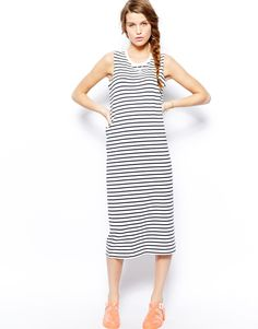 ASOS Only Jersey Stripe Midi Dress