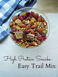 Life a Little Brighter: High Protein Snacks: Easy Trail Mix