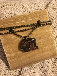 Vintage inspired Happy Camper Boho Chic necklace. Available in the Krusen Creations Etsy shop. $15 with free shipping. Vintage camper