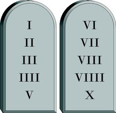 The Ten Commandments represent the laws of God for spiritual and moral living.
