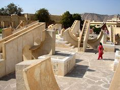 Another view of the very abstract looking Jantar Mantar in Jaipur, India.