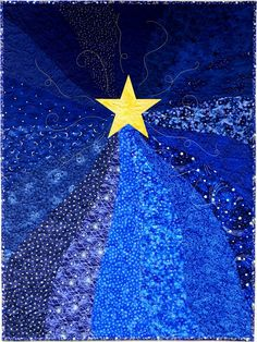 Sampaguita Quilts: Twinkle, twinkle, little star. Blue Quilts, Star Quilts, Mini Quilts, Quilting Projects, Quilting Designs, Small Quilt Projects, Quilt Design, Patchwork Designs, Fabric Postcards
