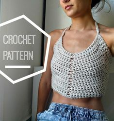 It has bee one HOT summer here in Tel Aviv and I just had to do a crochet crop top pattern. This one uses heavy worsted weight yarn, a US J 6mm hook and works up super quick. Its a great pattern for beginners with figure flattering halter straps and an adjustable lace-up back.  When you purchase this pattern you get a downloadable PDF file containing:  -required materials, finished project stats and photos -a step by step pattern to craft the body of the crop top in S/M or L -instructions…