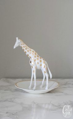 The Gathered Home: Anthropologie Knockoff Giraffe Trinket Dish
