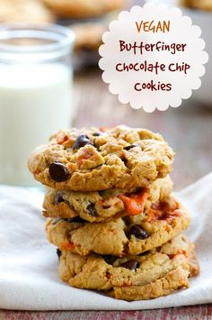 vegan: butterfinger chocolate chip cookies...