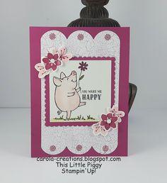 Carola Creations: Stampin'Up! This Little Piggy  Hallo, Met de stemp...
