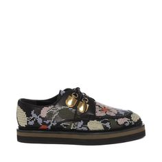 ALEXANDER MCQUEEN Shoes Nappa Embroidered Double Layer Sole