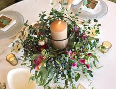 Wedding Guest Table, Table Flowers, Wedding Flowers, Candles, Table Decorations, Green, Nature, Image, Home Decor