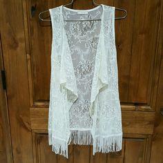 Ivory vest. Size M Ivory vest. Sise M Tops