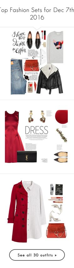 """Top Fashion Sets for Dec 7th, 2016"" by polyvore ❤ liked on Polyvore featuring Kate Spade, Bomedo, Être Cécile, Citizens of Humanity, Chloé, Lot78, Rembrandt Charms, Olivia Burton, Casetify and Giorgio Armani"