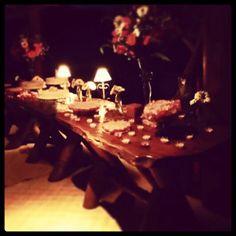Dhully e Leomar. Mesa de bolo e doces.