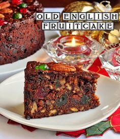 It's never too early to plan some Holiday baking with this Old English Dark Fruit Cake - a decades old recipe for a moist, rich, dark fruit cake chock full of dried fruit and crunchy pecans. Cake Old English Dark Fruit Cake Christmas Cooking, Christmas Desserts, Christmas Cakes, Christmas Fruit Cake Recipe, English Christmas Cake Recipe, Food Cakes, Cupcake Cakes, Fruit Cakes, Cupcakes