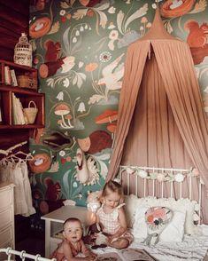 Mushroom Forest Mural Dark  Nursery Animal Animal Bedroom | Etsy