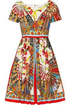 Dolce & Gabbana|Printed cotton dress|NET-A-PORTER.COM