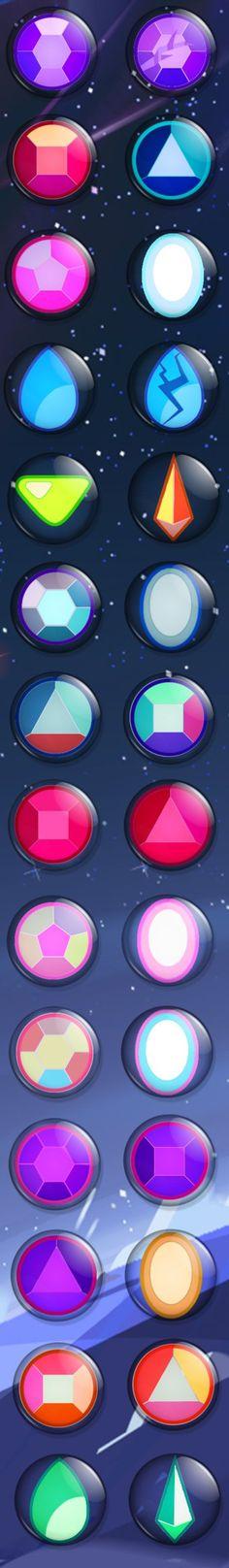 Steven Universe Gem Buttons - Otakuthon 2015 by Wingrott on DeviantArt