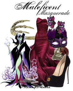 """Maleficent Masquerade"" by niennamarie ❤ liked on Polyvore"