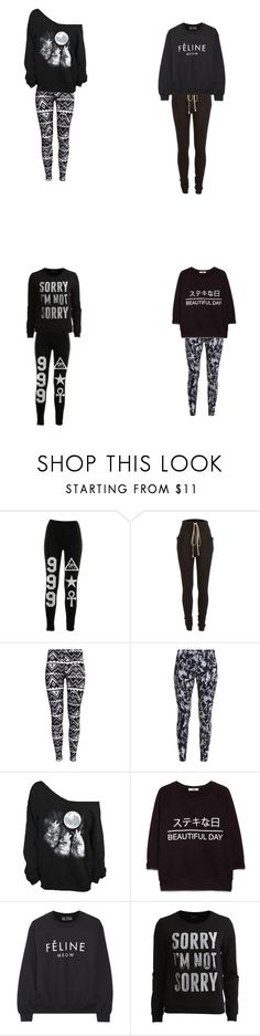 """""""Lazy Day"""" by voidraniee on Polyvore featuring Hood$ Up, Rick Owens, H&M, NIKE, MANGO, Brian Lichtenberg and Vila Milano"""