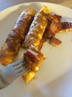 Lavkarbo pannekaker til middag? - Diabetes Solved Stevia, Sausage, Bacon, Food And Drink, Meat, Breakfast, Tableware, Kitchen, Desserts