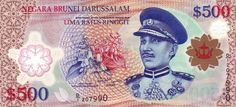 An image of the B$500. #500 #Currency #Brunei