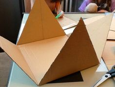 cardboard pyramid that can be used as a support for a lapbook on Egypt - cardboa. - cardboard pyramid that can be used as a support for a lapbook on Egypt – cardboard pyramid that c - Ancient Egypt Activities, Ancient Egypt Crafts, Ancient Egypt For Kids, Egyptian Crafts, Ancient Egypt Pyramids, Pyramids Of Giza, School Projects, Projects For Kids, Pyramid School Project