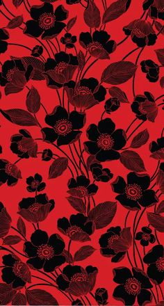 38 Ideas Flowers Red Wallpaper Iphone For 2019 Witchy Wallpaper, Gothic Wallpaper, Flowery Wallpaper, Black Phone Wallpaper, Cellphone Wallpaper, Cool Wallpaper, Pattern Wallpaper, Wallpaper Backgrounds, Red And Black Wallpaper