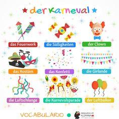 vocabulario en aleman el carnaval #VivaColonia #MexicanosEnALemania #AprenderAleman #AprenderAlemán #AprendiendoAlemán #Alemán