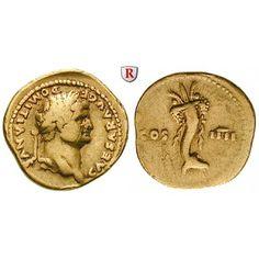 Römische Kaiserzeit, Domitianus, Caesar, Aureus 76, ss: Domitianus, Caesar 69-81. Aureus 20 mm 76 Rom. Kopf r. mit Lorbeerkranz… #coins