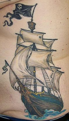pirate ship tattoo - Google Search