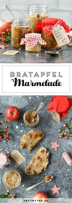Eine schöne Geschenkidee: Bratapfelmarmelade für Weihnachten #marmelade #bratapfel  #weihnachten #christmas