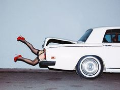 Tyler Shields - Rumers in the Boot (2014) from the series Provocateur #art #provocateur #tylershields #boots #classiccar #photography #contemporary #potd #fridayfeeling #party #imitatemodern