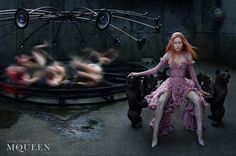 Campaign: Alexander McQueen Season: Fall 2002 Photographer: Steven Klein Model(s): Tatiana Urina