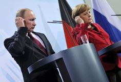 """Ukraine : la situation """"tend à se dégrader"""", selon Poutine et Merkel - International - Actualité - LeVif.be"""