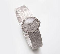 Damen-Armbanduhr von Omega mit Brillant-Besatz