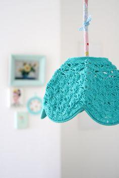 cutest crochet lamp shade. || via Etsy. @Katie Hrubec Schmeltzer DiCaro