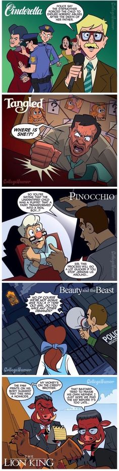 if there were police in disney stories