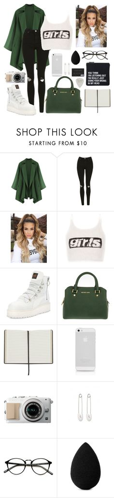 """#336"" by mildabas ❤ liked on Polyvore featuring Topshop, Alexander Wang, Puma, MICHAEL Michael Kors, AT&T, Kristin Cavallari, beautyblender and About Face Designs"